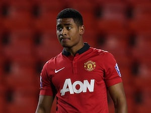 Saidy Janko In Action For Manchester United On December