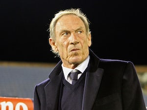 Coach Zeman Zdenek of Cagliari Calcio looks on during the Serie A match betweeen Cagliari Calcio and Juventus FC at Stadio Sant'Elia on December 18, 2014