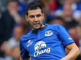 Antolin Alcaraz in action for Everton on August 3, 2014
