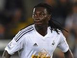 Bafetimbi Gomis in action for Swansea on August 26, 2014