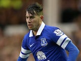 Bryan Oviedo in action for Everton on January 4, 2014