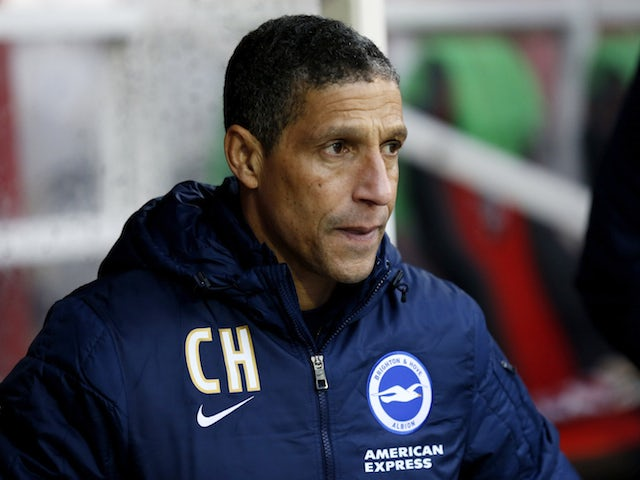 Brighton & Hove Albion manager Chris Hughton prior to the FA Cup Third Round match between Brentford v Brighton & Hove Albion at Griffin Park on January 3, 2015