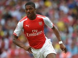 Chuba Akpom of Arsenal in action during the Emirates Cup match between Arsenal and AS Monaco at the Emirates Stadium on August 3, 2014
