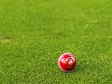 A general view of a Kookaburra turf four piece cricket ball is seen before play on day one of the Sheffield Shield final match between the Tasmanian Tigers and the New South Wales Blues at Bellerive Oval on March 17, 2011
