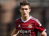 Dan Potts in action for West Ham on August 9, 2014