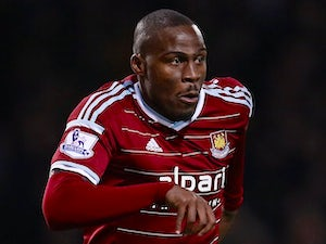 Guy Demel in action for West Ham on December 28, 2014