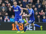 Ipswich Town's English midfielder Darren Ambrose celebrates scoring the opening goal during the English FA Cup third round football match between Southampton and Ipswich Town at St Mary's Stadium in Southampton, southern England, on January 4, 2015