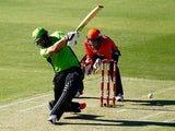 Jacques Kallis of the Thunder bats during the Big Bash League match between the Perth Scorchers and Sydney Thunder at WACA on January 1, 2015