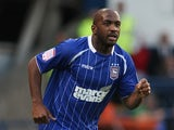 Jason Scotland of Ipswich Town in action during the Carling Cup First Round Match between Ipswich Town and Northampton Town at Portman Road on August 9, 2011
