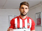 Jay Rodriguez in his Southampton shirt on October 10, 2014