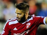 Jordan Turnbull in action for Swindon Town on October 7, 2014