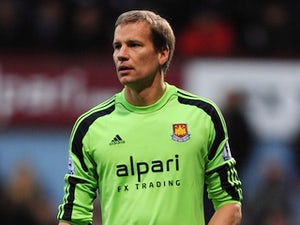 Jussi Jaaskelainen in action for West Ham on December 14, 2013