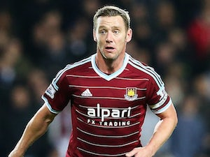Kevin Nolan in action for West Ham on December 2, 2014