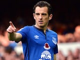 Leighton Baines in action for Everton on November 1, 2014