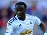 Marvin Emnes in action for Swansea on October 4, 2014