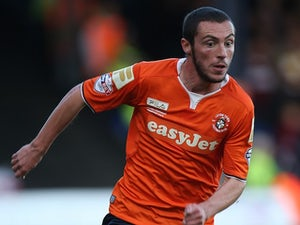 Michael Harriman in action for Luton Town on October 25, 2014