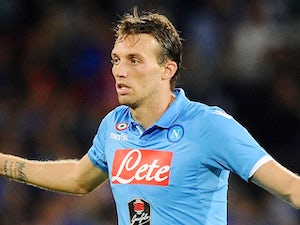 Michu in action for Napoli on October 5, 2014