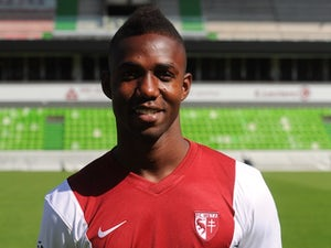 Modibo Maiga at the team photocall for Metz in September 2014