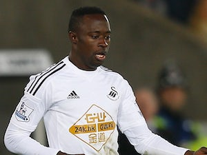 Modou Barrow in action for Swansea on November 29, 2014