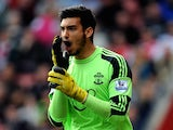 Paulo Gazzaniga in action for Southampton on April 12, 2014