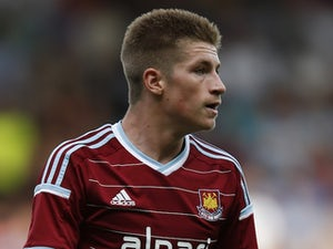 Reece Burke in action for West Ham on August 9, 2014