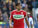 Rhys Williams of Middlesbrough in action during the npower Championship match between Sheffield Wednesday and Middlesbrough at Hillsborough Stadium on May 4, 2013