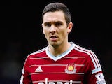 Stewart Downing in action for West Ham on December 7, 2014