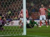 Stephen Ireland of Stoke City scores his team's third goal during the FA Cup Third Round match between Stoke City and Wrexham at Britannia Stadium on January 4, 2015