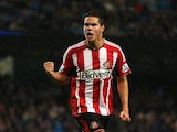 Jack Rodwell of Sunderland celebrates his goal during the Barclays Premier League match between Manchester City and Sunderland at Etihad Stadium on January 1, 2015