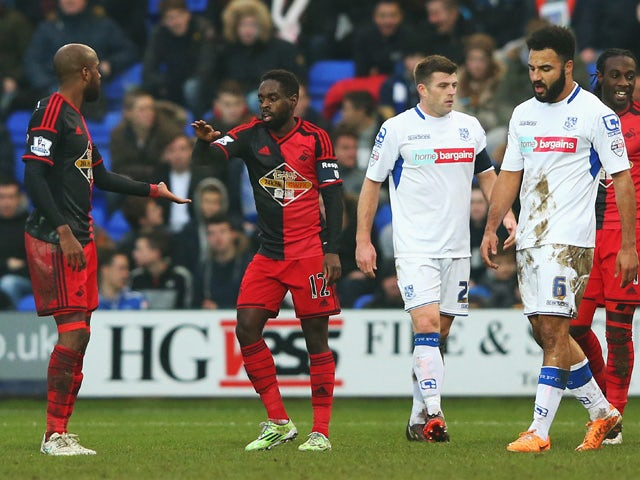 Result: Swansea cruise past Rovers