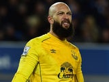Tim Howard in action for Everton on December 15, 2014