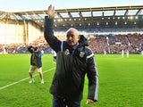 New head coach of West Bromwich Albion Tony Pulis waves to the crowd prior to the FA Cup Third Round match between West Bromwich Albion and Gateshead at The Hawthorns on January 3, 2015