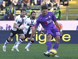 Mario Gomez of ACF Fiorentina misses a penalty during the Serie A match between Parma FC and ACF Fiorentina at Stadio Ennio Tardini on January 6, 2015