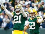 Ha Ha Clinton-Dix #21 and Clay Matthews #52 of the Green Bay Packers react during the 2015 NFC Divisional Playoff game against the Dallas Cowboys at Lambeau Field on January 11, 2015