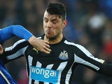 Haris Vuckic in action for Newcastle on January 3, 2015