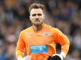 Jak Alnwick in action for Newcastle on December 21, 2014