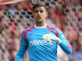 Karl Darlow in action for Nottingham Forest on August 9, 2014