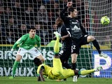 Nantes' Guinean forward Ismael Bangoura tries to score a goal during the French L1 football match between Nantes (FCN) and Metz (FCM) on January 11, 2015
