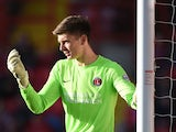 Goalkeeper Nick Pope of Charlton Athletic during the Sky Bet Championship match between Charlton Athletic and Ipswich Town at The Valley on November 29, 2014