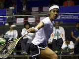 Nicol David of Malaysia and Rebecca Palllikal Dipika of India competes during Squash Womens Team Final during day eight of the 2014 Asian Games at Yeorumul Squash Courts on September 27, 2014
