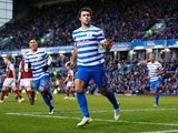Charlie Austin of QPR celebrates scoring his penalty during the Barclays Premier League match between Burnley and Queens Park Rangers at Turf Moor on January 10, 2015