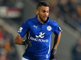 Riyad Mahrez in action for Leicester on December 28, 2014