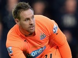 Rob Elliot in action for Newcastle on November 29, 2014