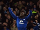 Everton's Belgian striker Romelu Lukaku celebrates scoring the equalising goal in added time during the English FA Cup Third Round football match against West Ham United on January 6, 2015
