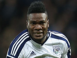 Brown Ideye in action for West Brom on January 10, 2015