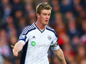 Chris Brunt in action for West Brom on January 10, 2015