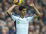 Cristian Gamboa in action for West Brom on November 29, 2014