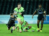 George North scores Northampton Saints' second try against Ospreys on January 18, 2015
