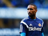 Jermain Defoe of Sunderland looks on during the warm up prior to the Barclays Premier League match between Tottenham Hotspur and Sunderland at White Hart Lane on January 17, 2015