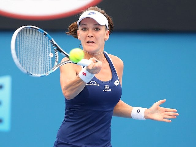 Agnieszka Radwanska in action on day two of the Australian Open on January 20, 2015